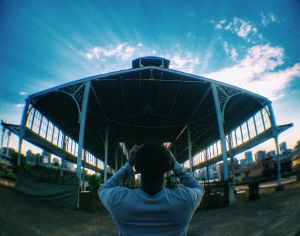 Photo of me by Kyle Matthews at the old Rail Station in Newtown, Johannesburg.